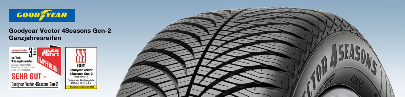 Goodyear Vector 4Seasons Gen-2 - Testsieger